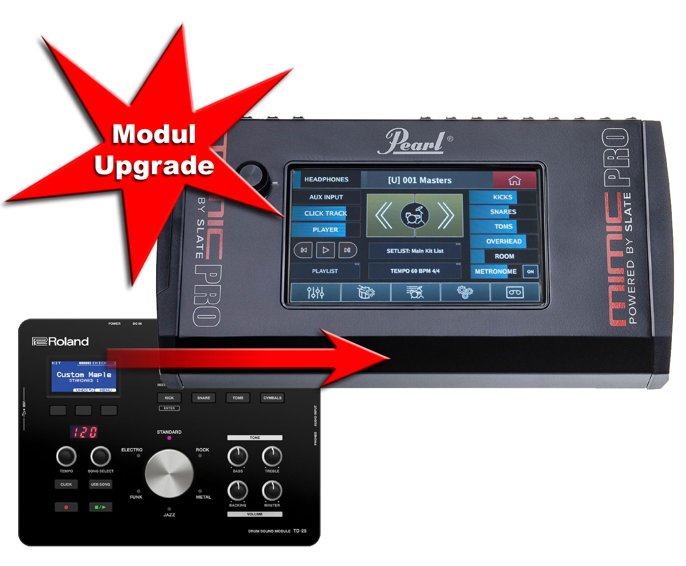 Module Upgrade Roland TD-25 to Pearl Mimic Pro