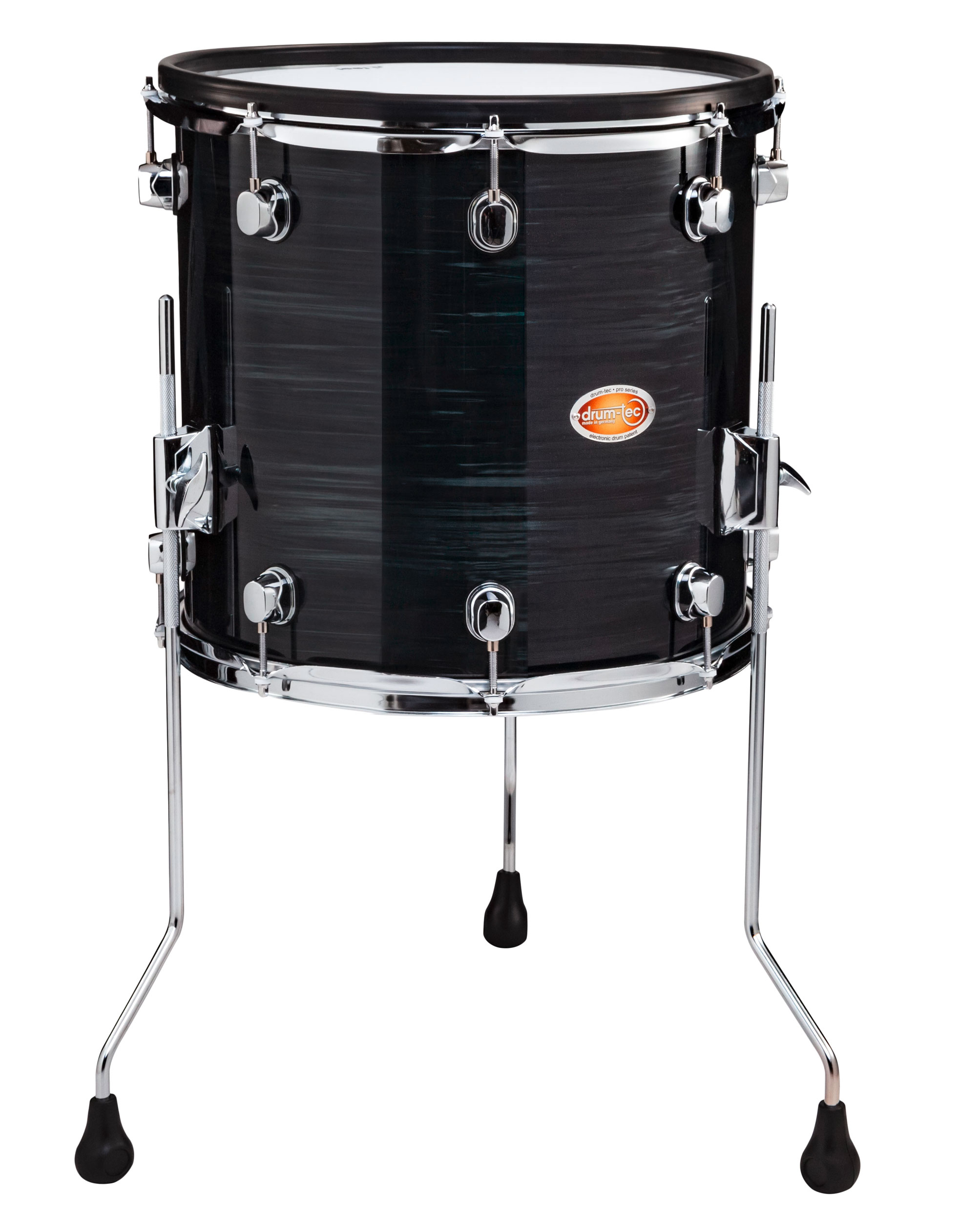 Drum Tec Pro Custom Floor Tom 14 X 14 Black Slate Drum Tec