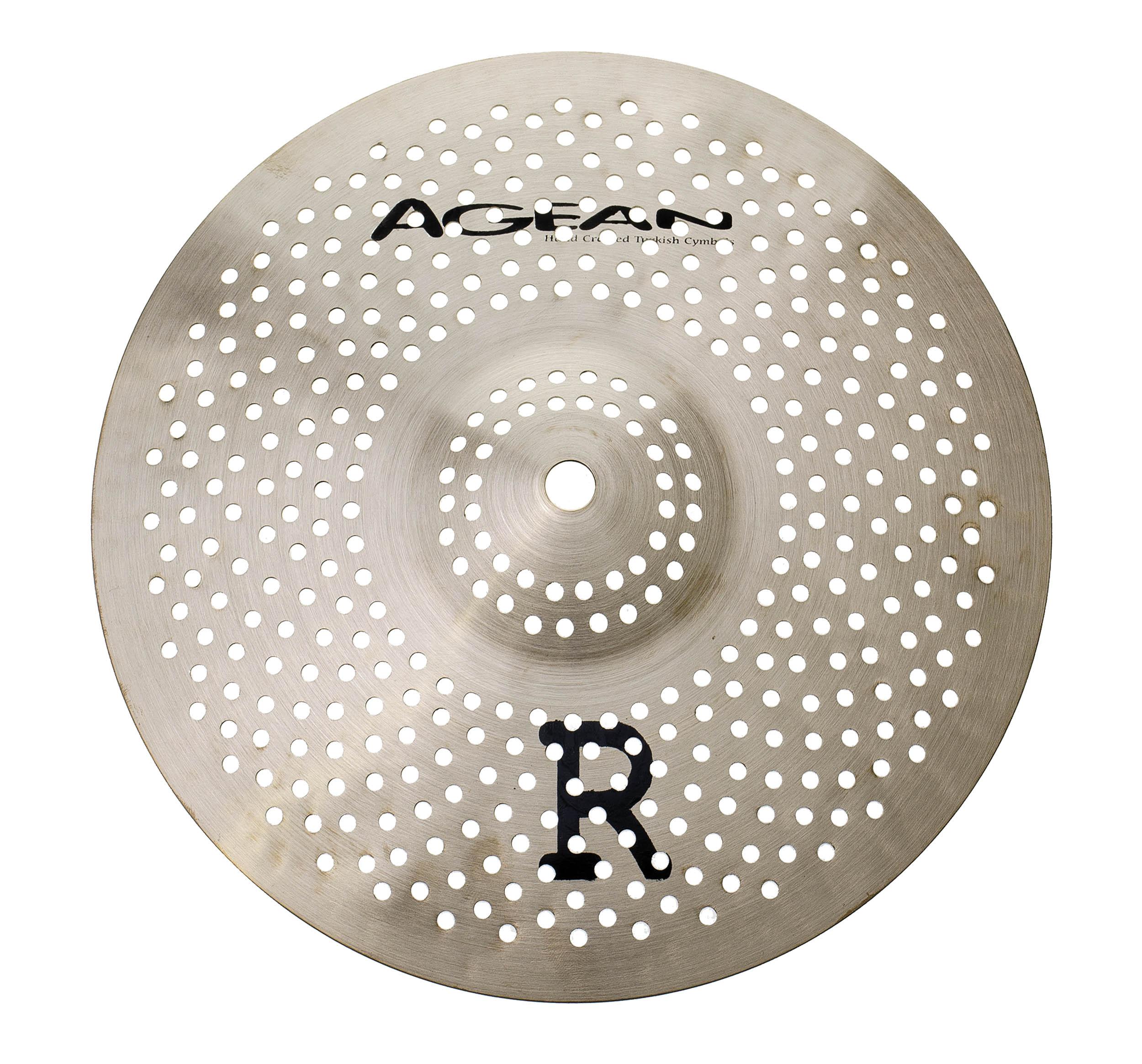 agean r low noise 10 splash real feel practice cymbal drum tec. Black Bedroom Furniture Sets. Home Design Ideas