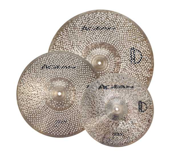 "Agean ""Natural Jazz"" Low Noise Cymbal Set"