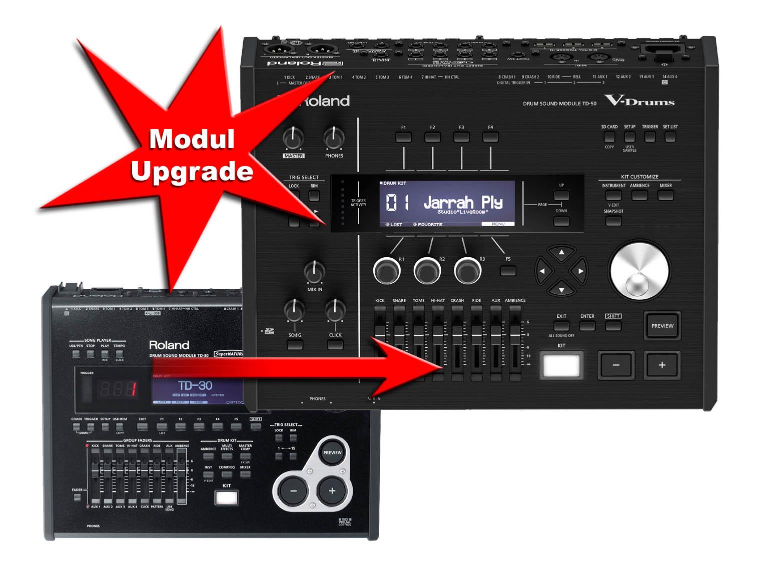 module upgrade roland td 30 to roland td 50 drum tec. Black Bedroom Furniture Sets. Home Design Ideas