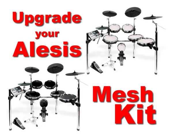 drum tec mesh upgrade for alesis dm10x kit design meshheads drum tec