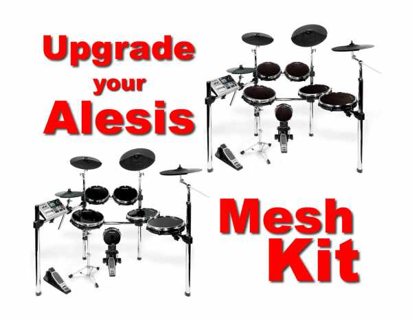 drum-tec Mesh Upgrade für Alesis DM10X Kit