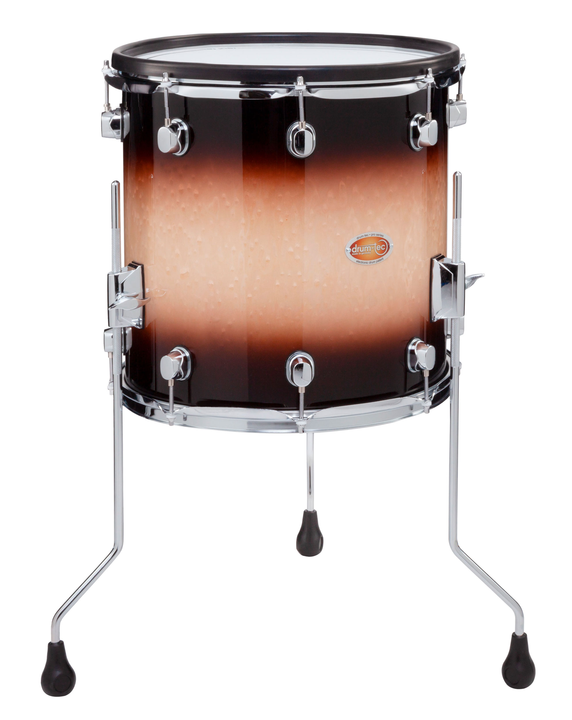 Drum Tec Pro S Floor Tom 14 X 14 Brown Fade Drum Tec
