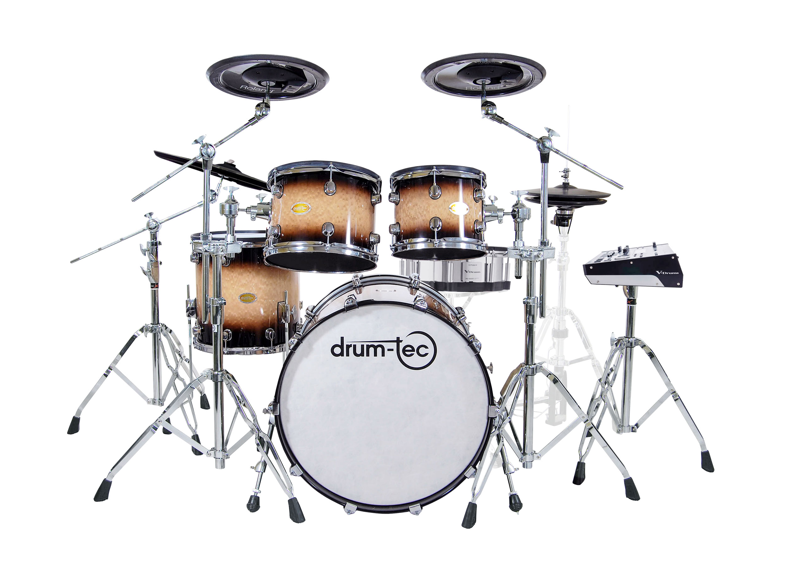 drum-tec pro-s Stage with Roland TD-50DP (brown fade)