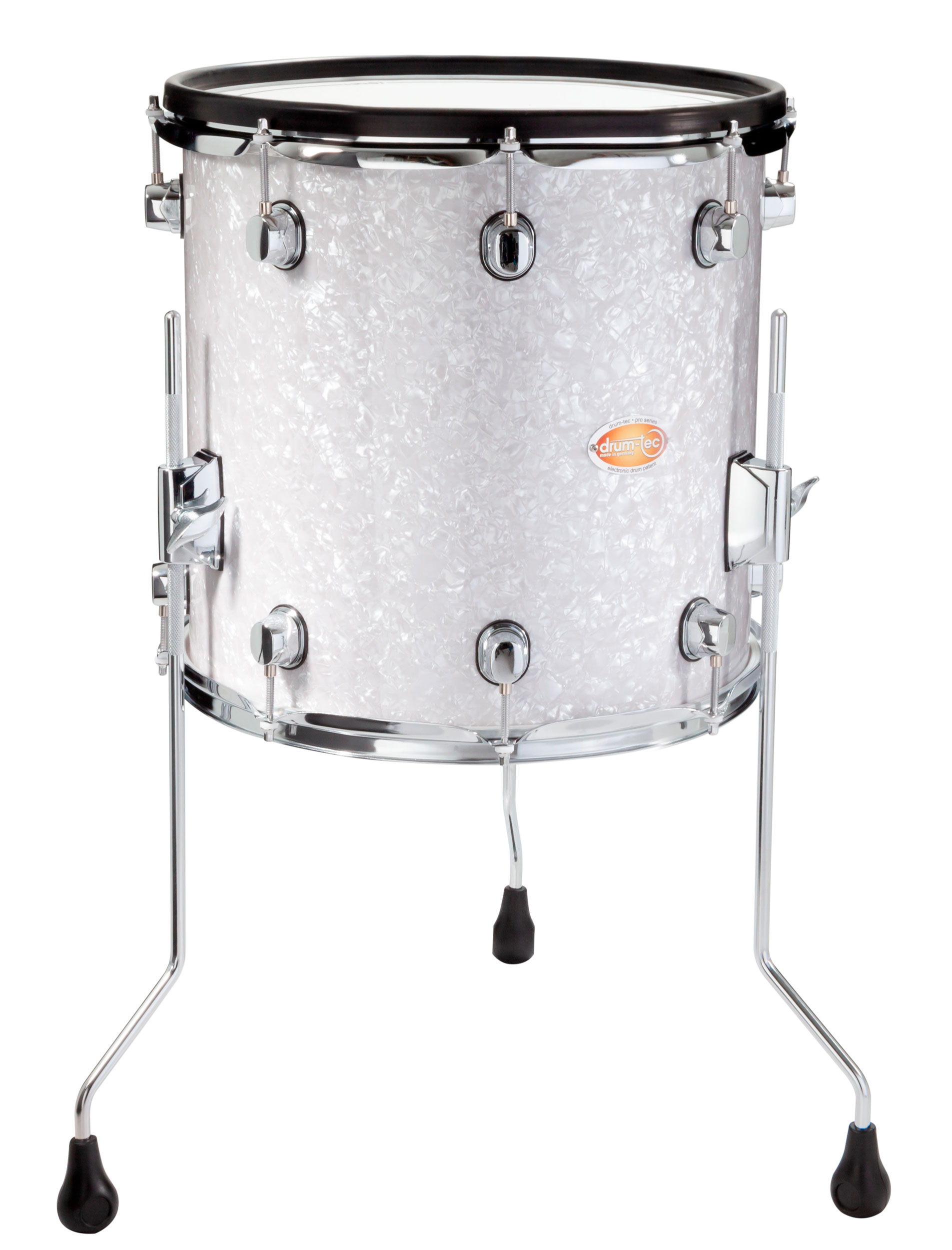 Drum Tec Pro Custom Floor Tom 14 X 14 White Pearl Drum Tec