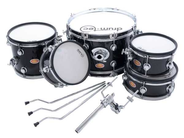 drum-tec Jam Shell Set 5-teil. (Black Sparkle)