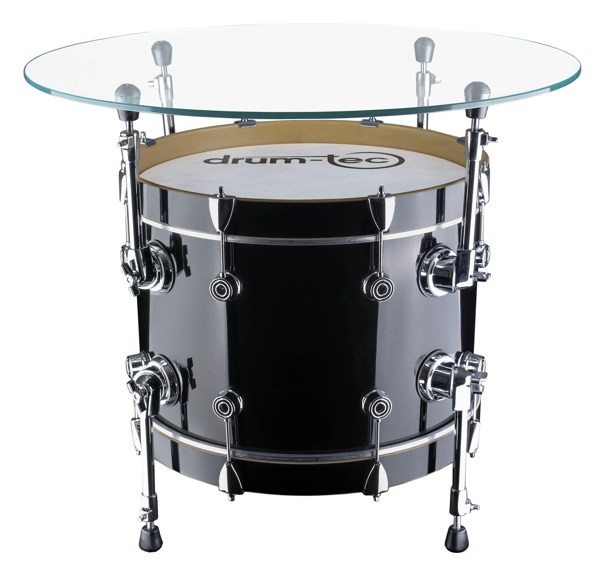Chrome Drum Coffee Table: Drum-tec Bass Drum Coffee Table