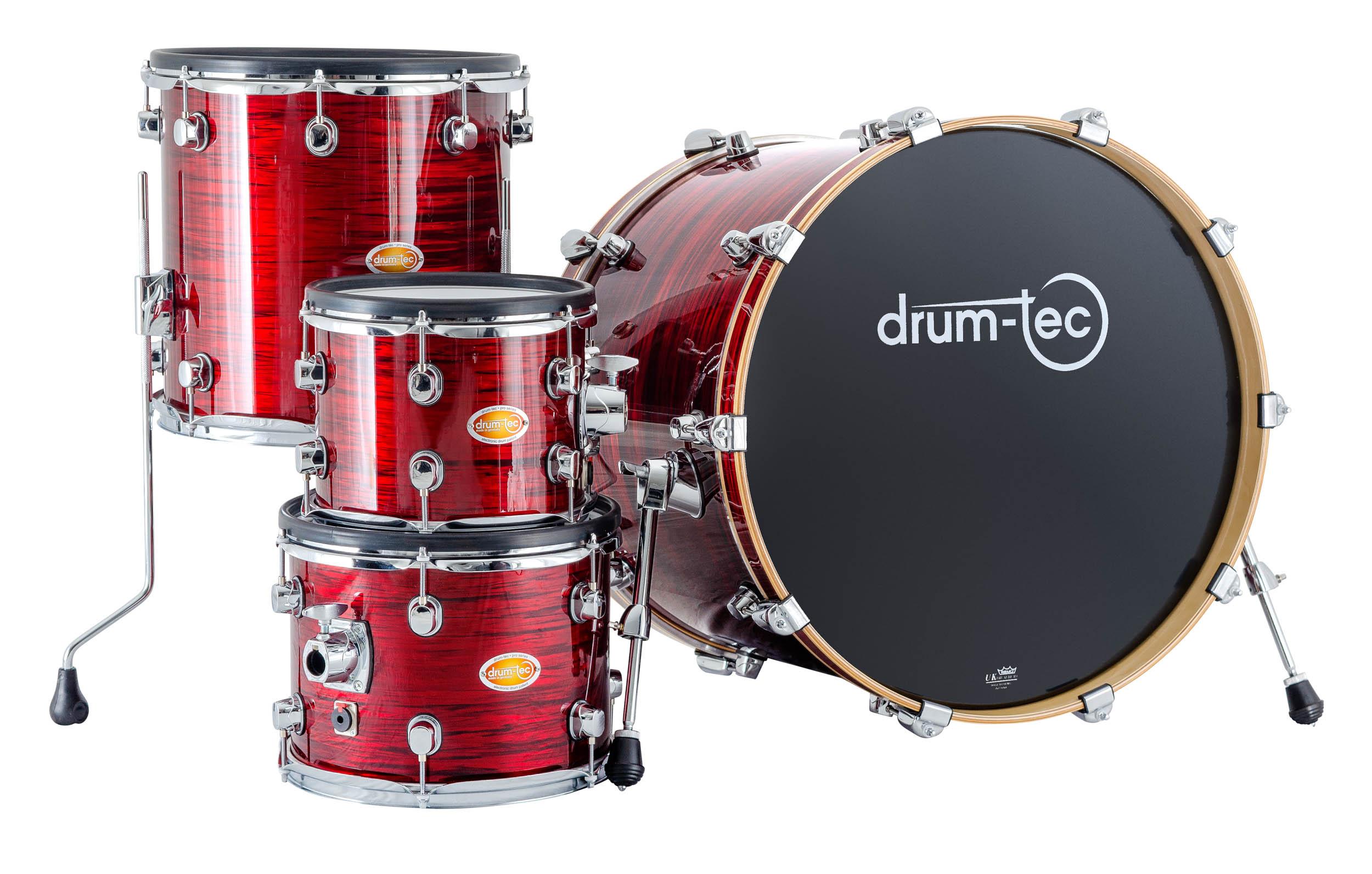 drum-tec pro custom 4-pcs  Shell Set (red oyster)