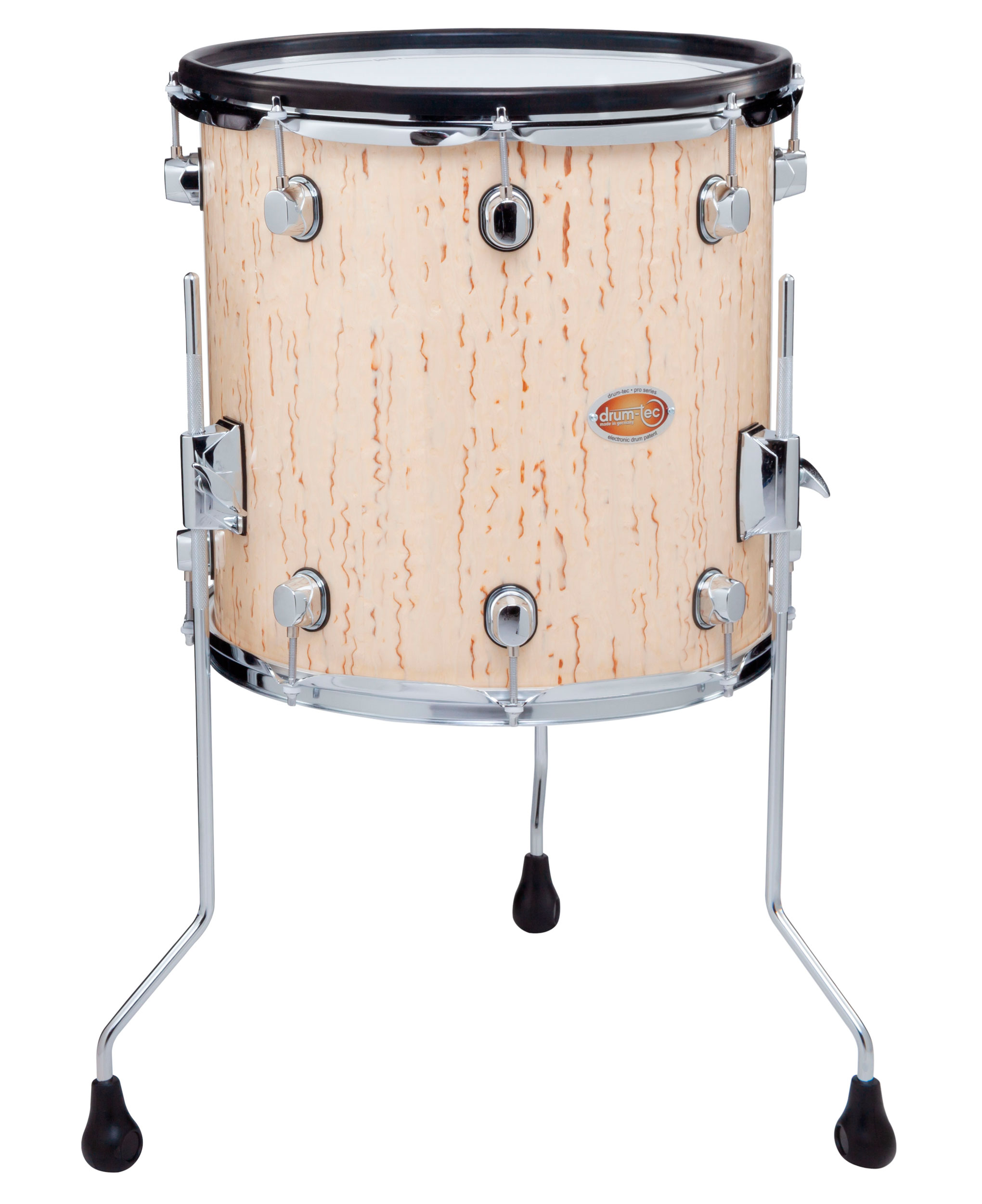 Drum Tec Pro S Floor Tom 14 X 14 Ice Birch Drum Tec