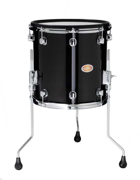 Drum Tec Pro Floor Tom 14 X 14 Black Finish Drum Tec