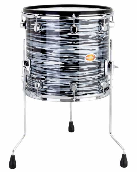Drum Tec Pro Custom Floor Tom 14 X 14 Blue Oyster Drum Tec