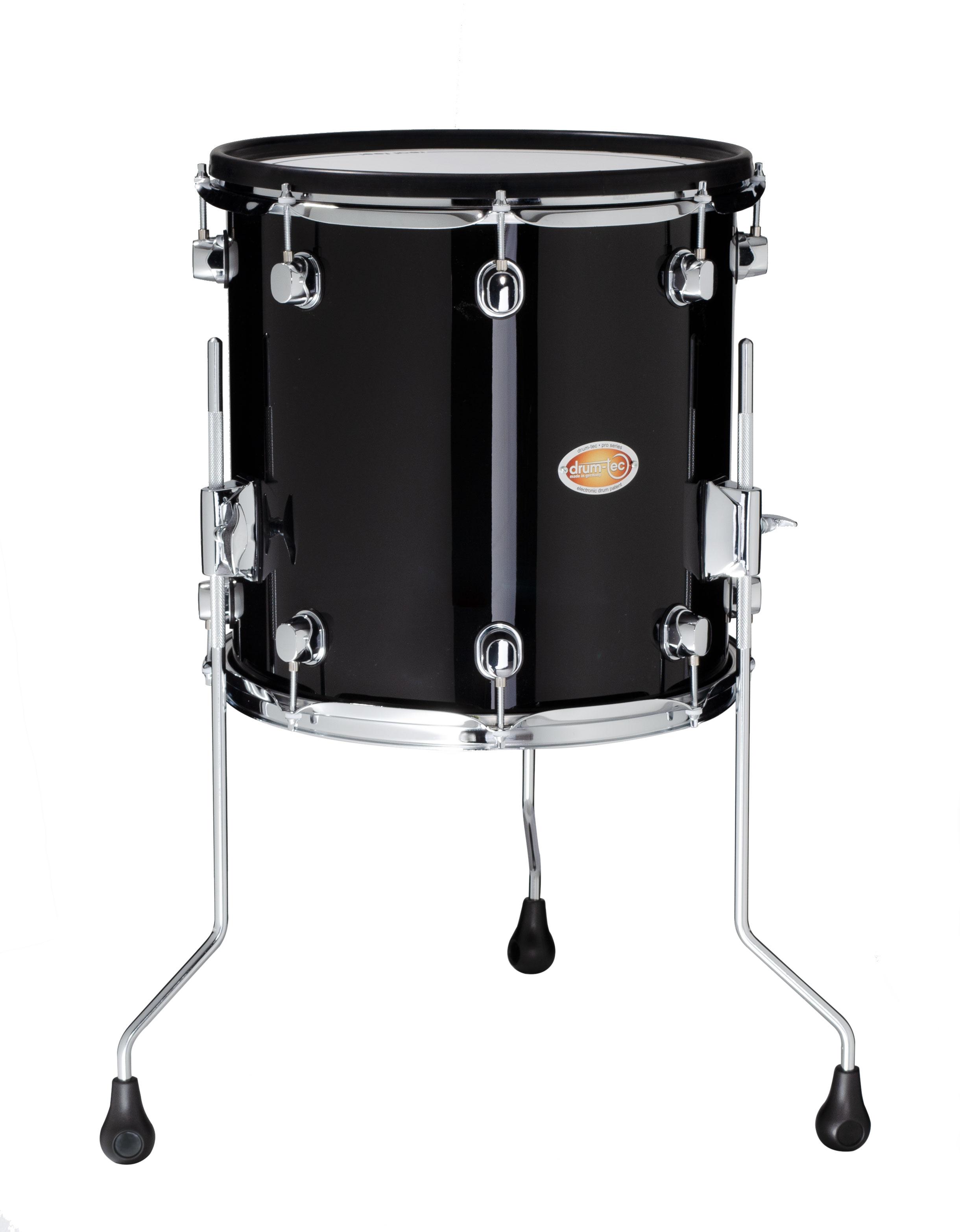 Drum Tec Pro Floor Tom 14 Quot X 14 Quot Black Finish Drum Tec