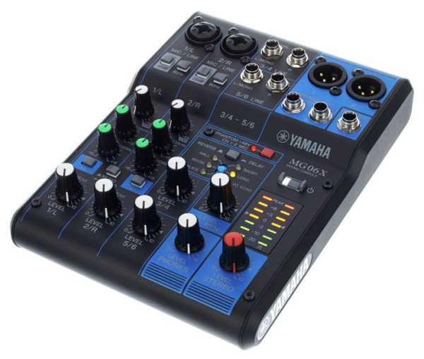 Yamaha MG06X 6 Kanal Mixer mit Effekten