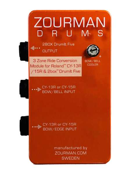 Zourman 2Box conversion box for Roland 3-zone